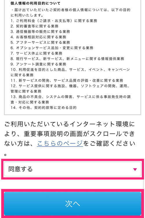 Try WiMAX申し込みの流れ