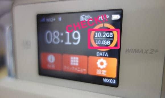 WiMAX使用データ量
