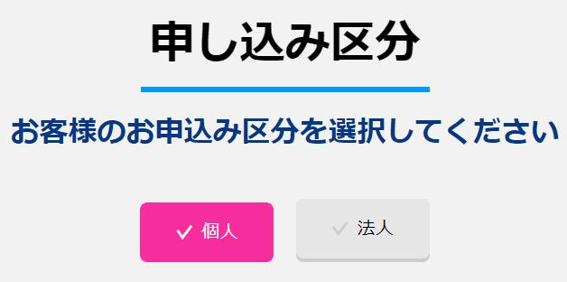 カシモWiMAX申し込み区分