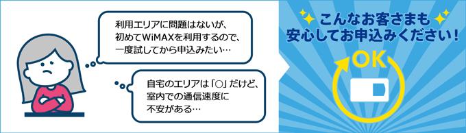 GMOとくとくBB WiMAX 2+ 初期契約解除制度 20日間