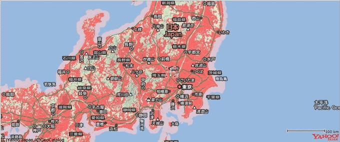 よくばりWiFi 提供エリア SoftBank